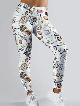Skinny 3D Printed Women Yoga Pants