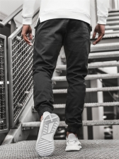 Simple Design Solid Cargo Pants For Men