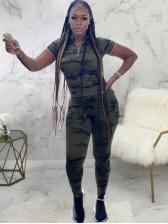 Camouflage Print Fashion Sport Trouser Set