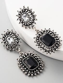 Euro Style Rhinestone Geometric Fashion Earrings Women