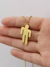 Punk Style Human Shape Pendant Creative Necklace