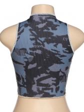 Tie Dye Crew Neck Skinny Cropped Top Women