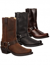 New Retro Style Square Toe Thick Heel Boots