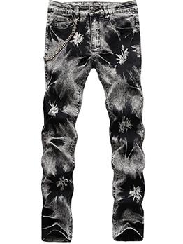 Hip Hop Tie Dye Fashion Men Jeans