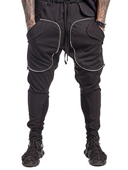 Casual Patchwork Multi-Pocket Men Zipper Pants Fashion