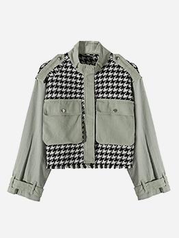 Easy Matching Vintage Houndstooth Short Coat