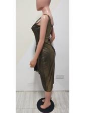 Square Neck Smart Waist Sleeveless Maxi Dress