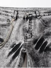 Hip Hop Street Trend Tie Dye Men Jeans