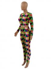 Fashion Plaid Print Casual Two Pieces Pants Set