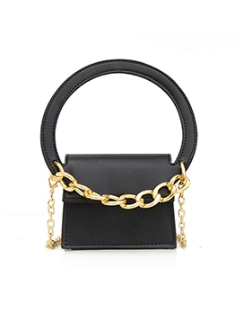 Semicircle Handle Thick Chain Mini Shoulder Bags