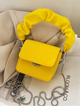 Draped Handle Solid Color Mini Crossbody Bags