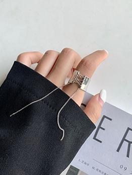 Stylish Solid Tassels Women Ring