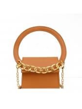 Semicircle Handle Thick Chain Mini Shoulder Bags