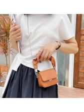 Draped Handle Solid Color Mini Crossbody Bags