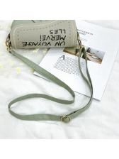 Irregular Shape Contrast Color Letter Shoulder Bags