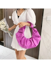 New Arrivals Draped Pu Solid Handbags For Women