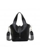 Alligator Pattern Removable Belt 2 Piece Shoulder Bags