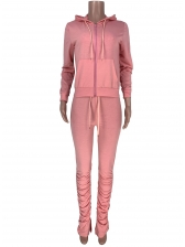 Sporty Hooded Solid Ladies Tracksuits