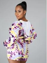 Casual Printed Long Sleeve Ladies Tracksuits