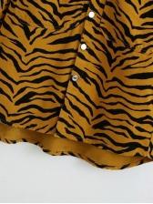 Autumn Animal Print Women Long Sleeve Dress