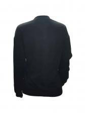 Trendy Printing Black Crewneck Sweatshirts
