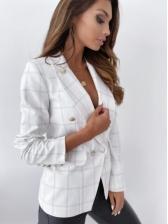 Autumn OL Style Plaid Blazer For Women