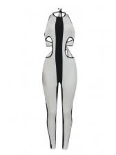 Cut Out Backless Halter Neck Skinny Jumpsuit