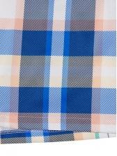 Contrast Color Plaid Lapel Collar Long Coat