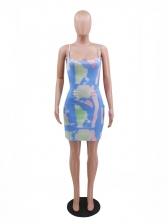 Print Backless Sexy Camisole Sleeveless Dress