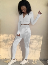 Casual Fitness Women Long Tracksuit Set
