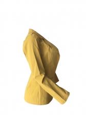 Casual Yellow Lapel Women Blazer