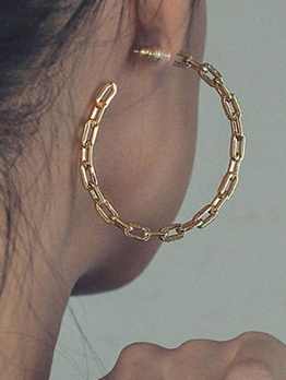 Personality Alloy Material Big Hoop Earrings