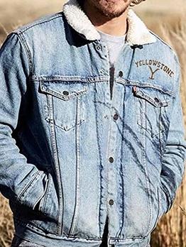 Winter Fashion Denim Jacket For Men