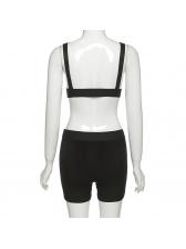 Deep V Neck Summer Breathable Trouser Sport Set