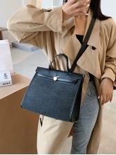 Vintage Trendy Briefcase Shoulder Bag