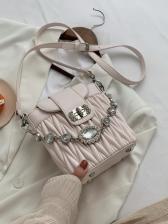 Rhinestone Chain Fold Ladies Shoulder Bag