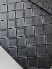 Solid Color Grid Versatile Simple Shoulder Bag