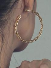 Personality Alloy Material Big Hoop Earrings