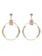 Fashion Rhinestone Hoop Earrings For Women