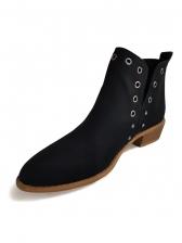 Stylish Round Toe Rivets Womens Boots