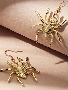 Metallic Spider Halloween Wacky Earrings