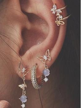 Fashion Butterfly Earrings Combination Set
