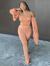 Sexy Off Shoulder Cropped Two Piece Outfits