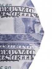 Euro Printed Back Zipper Camisole