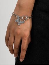 Vintage Simple Alloy Material Butterfly Bracelet