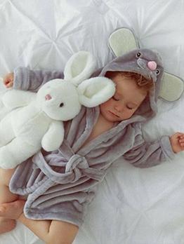 Cute Cartoon Tie Wrap Hooded Baby Robes