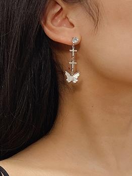 Fashion Butterfly Rhinestone Earrings For Women