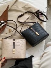 Alligator Pattern Adjustable Belt Women Shoulder Bags