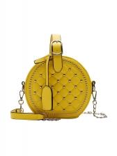Double Zipper Round Rivet Chain Crossbody Bags