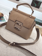 Removable Belt Solid Color Shoulder Bags With Handle